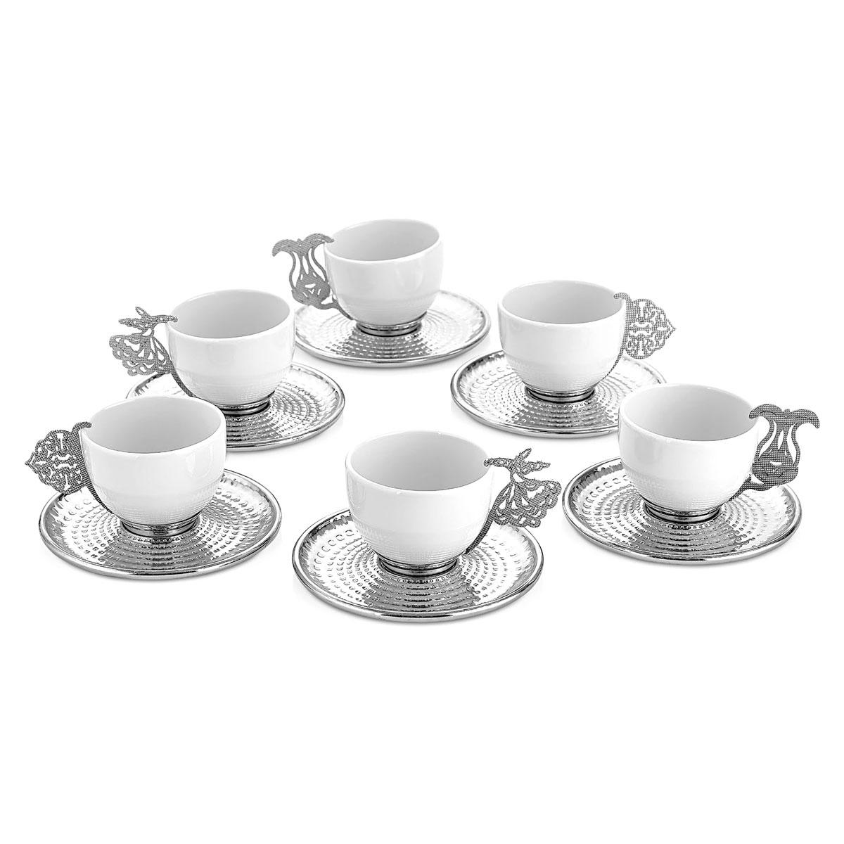 jogo cafe 12 pecas prata
