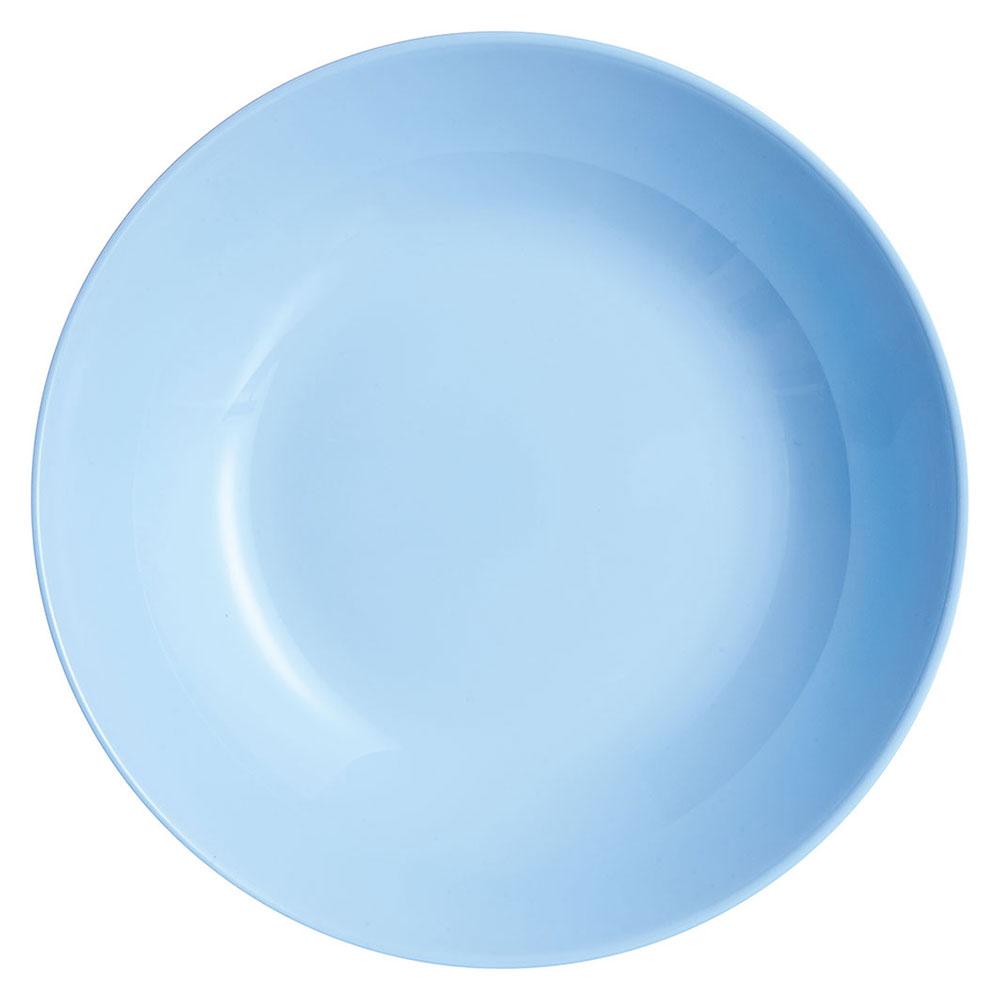 Foto still do prato fundo de vidro temperado