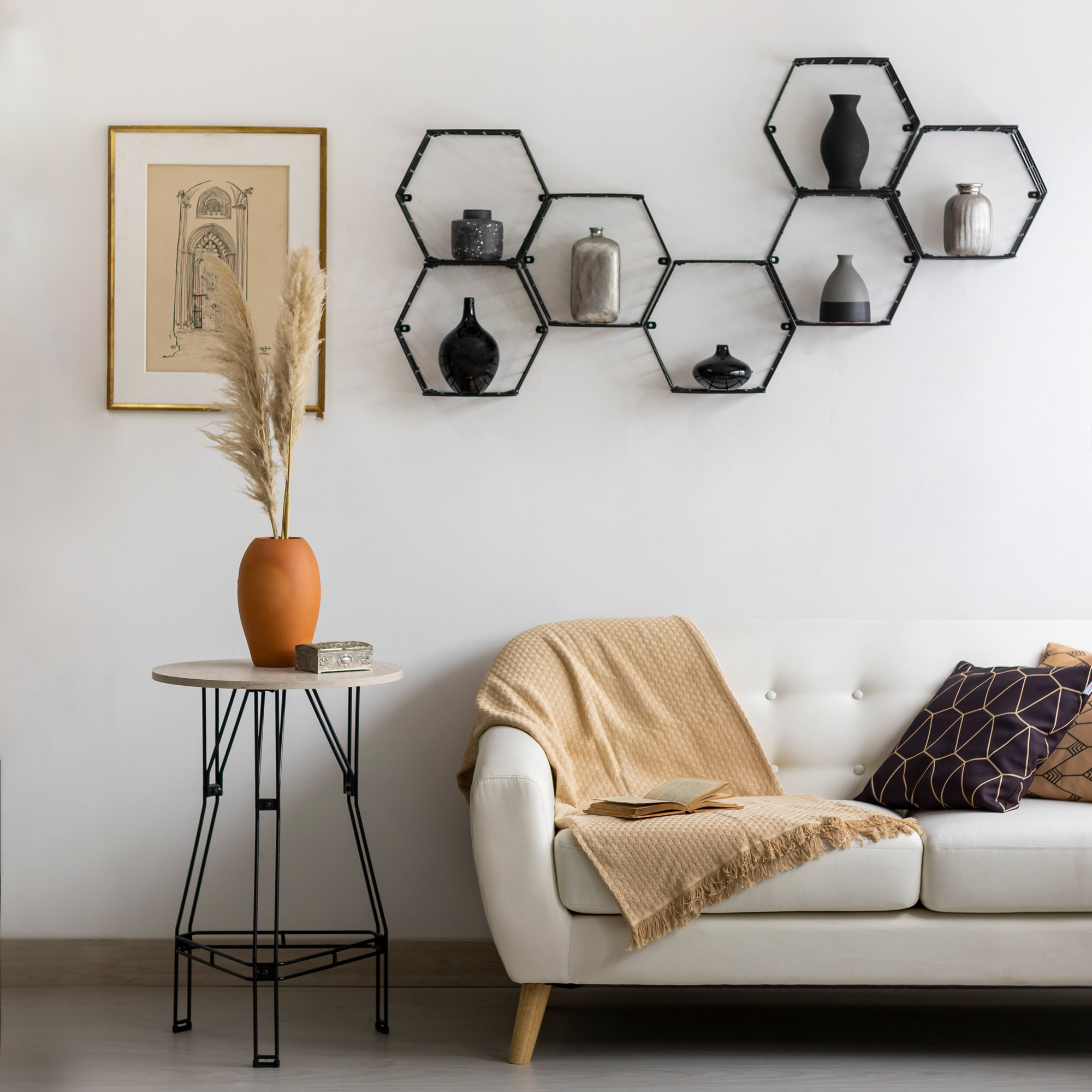Cubo de aço hexagonal