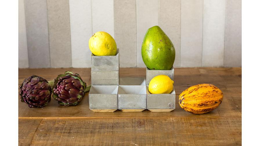 Fruteira Concretista Cinza Claro (disponível em 6 cores)