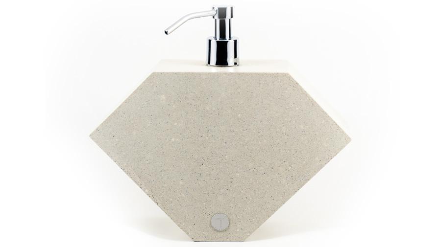 Saboneteira Lápida Branca + Válvula inox (disponível em 6 cores)