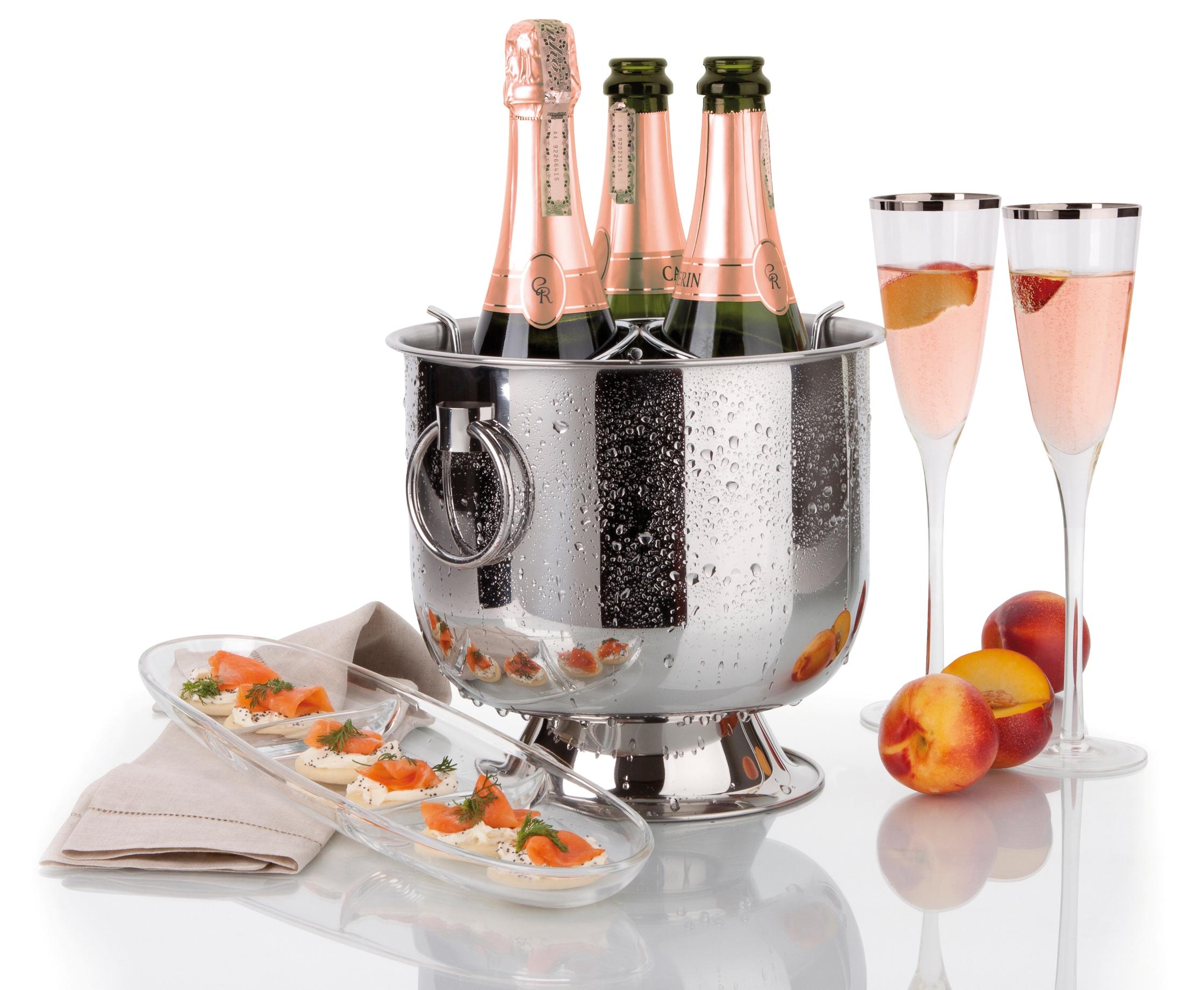 Champagneira com Base Coletora, Alças e Grelha Separadora