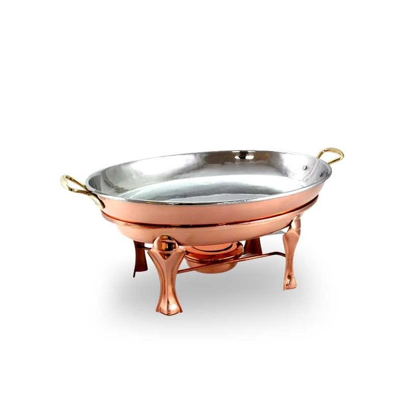 Rechaud Oval Banho Maria Pequeno Cobre