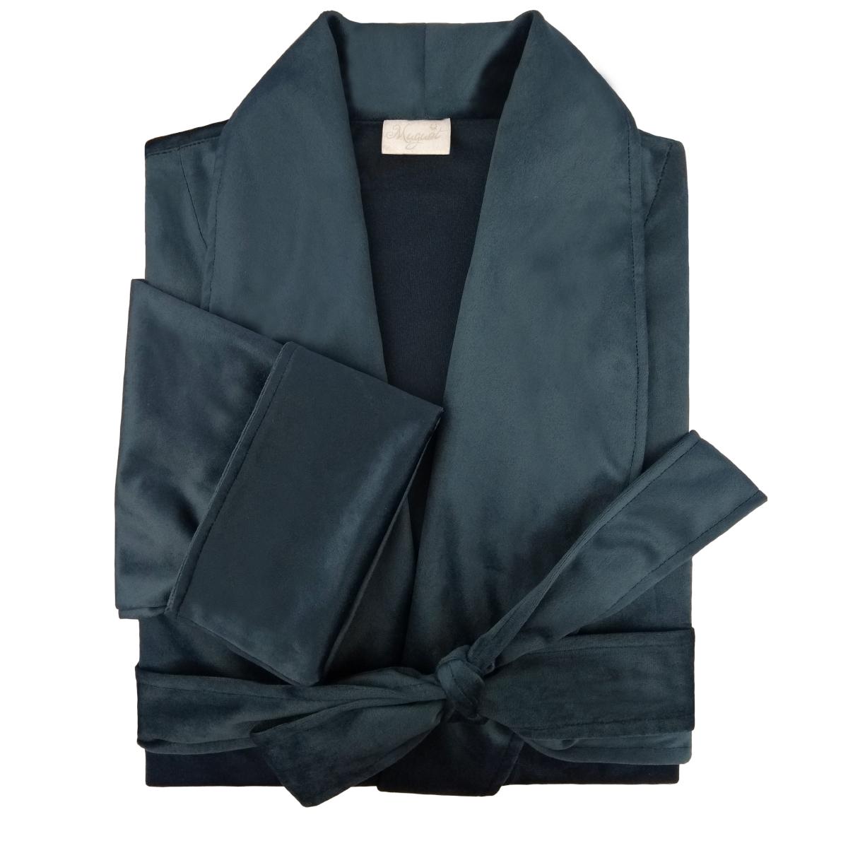 Robe de Veludo Color Connection -  Cor Bluestone