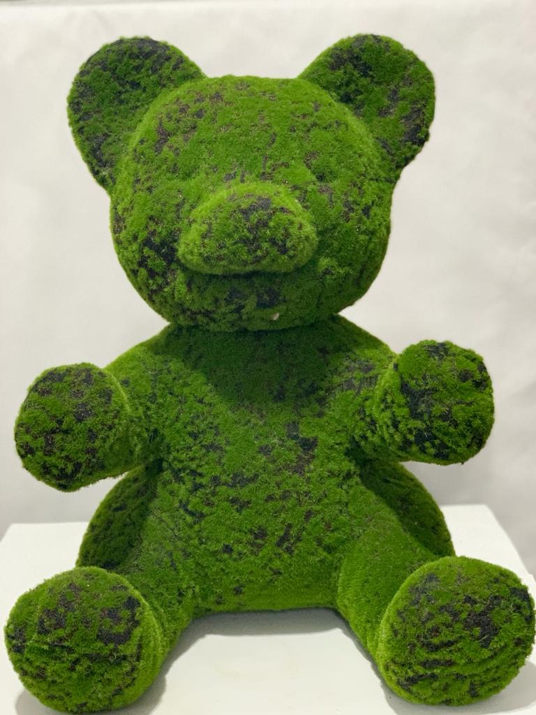 urso musgo verde 57cm altura