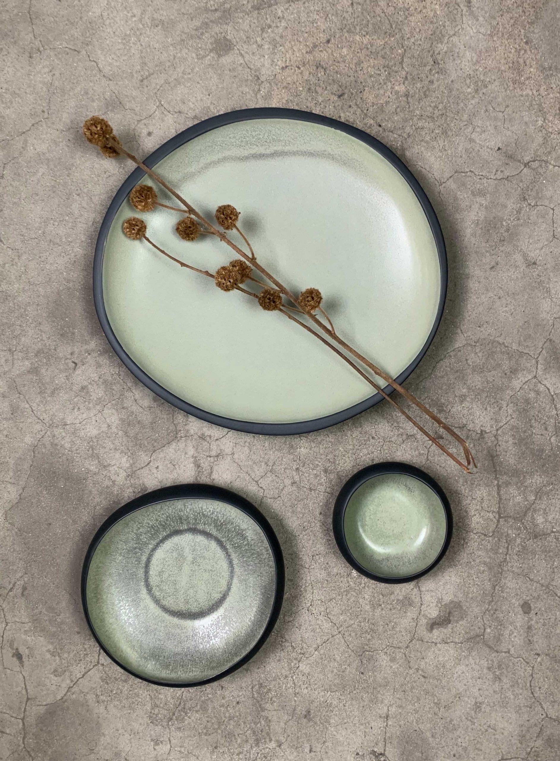 Bowl e Centro de Mesa em Cerâmica