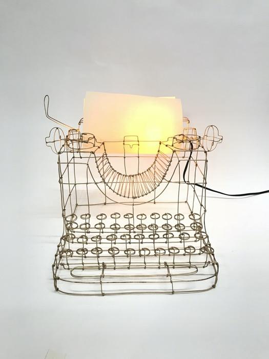 Máquina de escrever frente