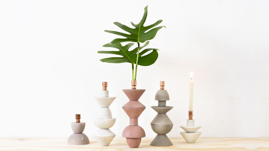 Vaso/Castiçal Valentim (disponível em 6 cores e 2 alturas)