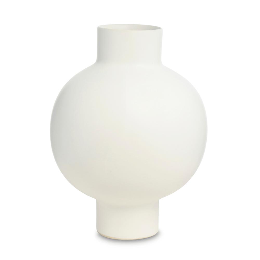 Vasos em Cerâmica Fosca Hanko Branco