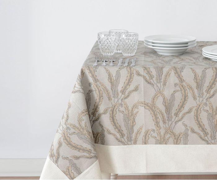 Toalha de mesa Folha bege impermeável