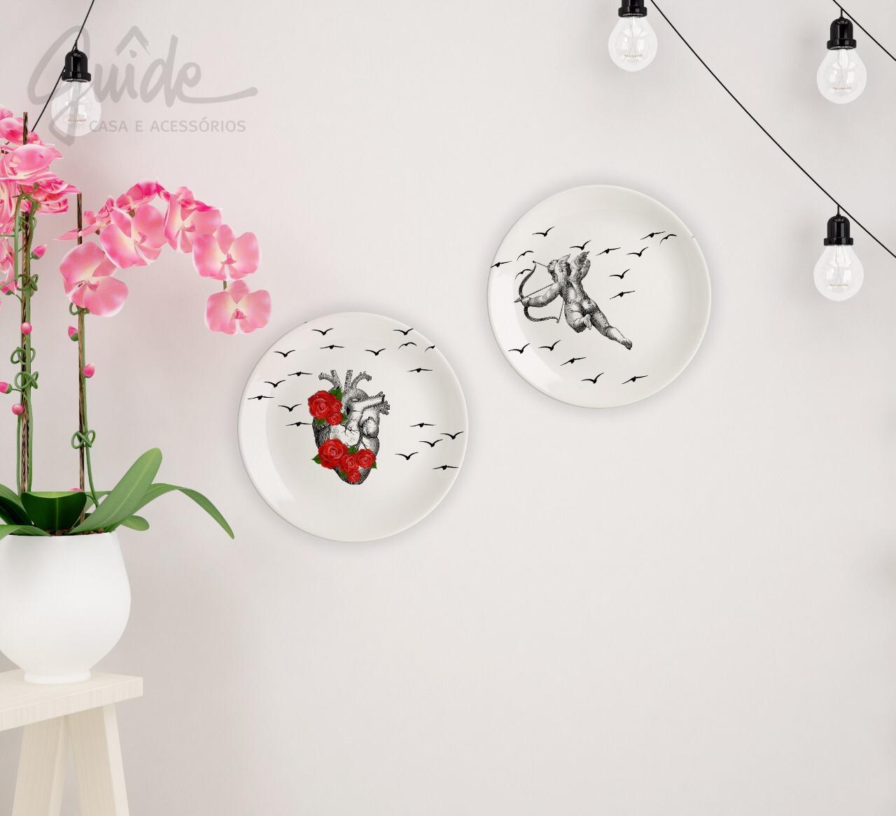 Pratos decorativos Cupido
