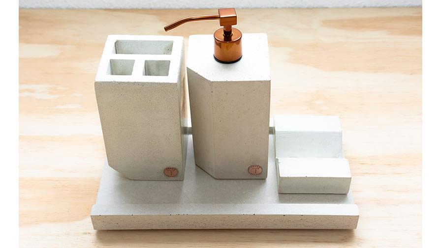 Conjunto Branco + Válvula cobre (disponível em 6 cores)