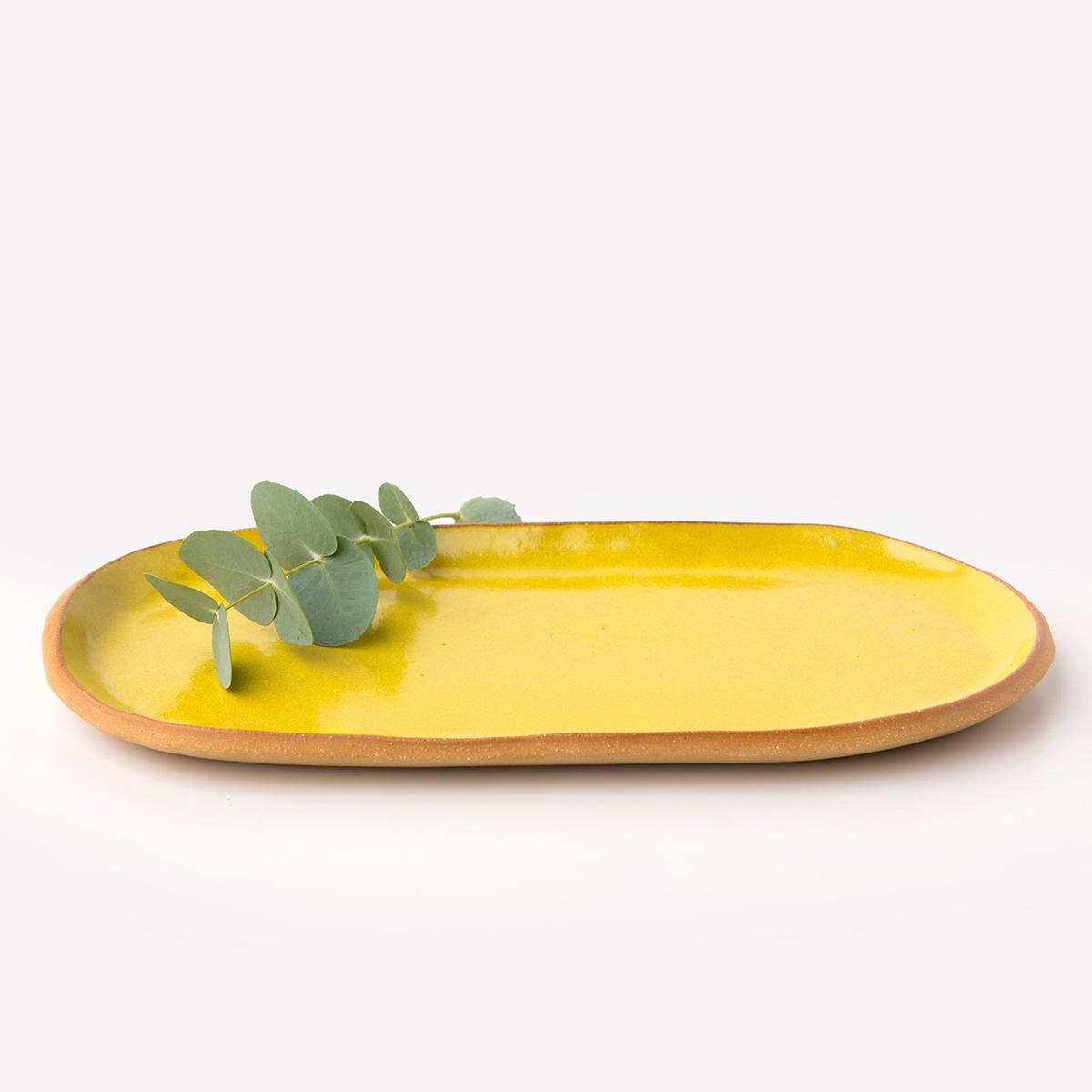 Travessa Biscoito M - Cor: Amarelo