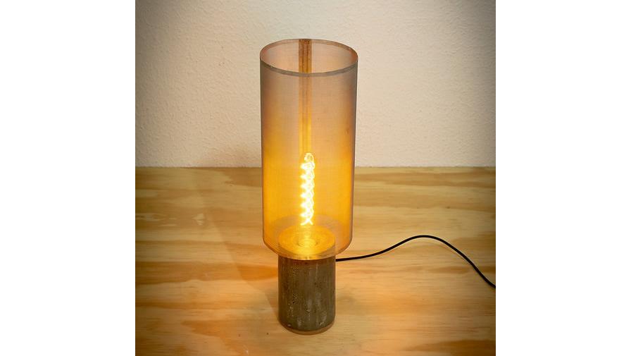 Luminária Concreta Cinza Claro (disponível em 6 cores)