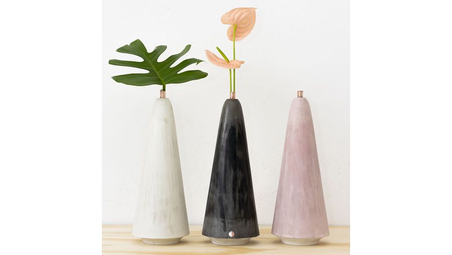 Vaso Oscar 2 Branco, Cinza Escuro e Rosa (disponível em 6 cores)