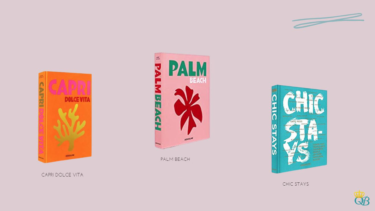 Livros: Capri Dolce Vita, Palm Beach e Chic Stays.