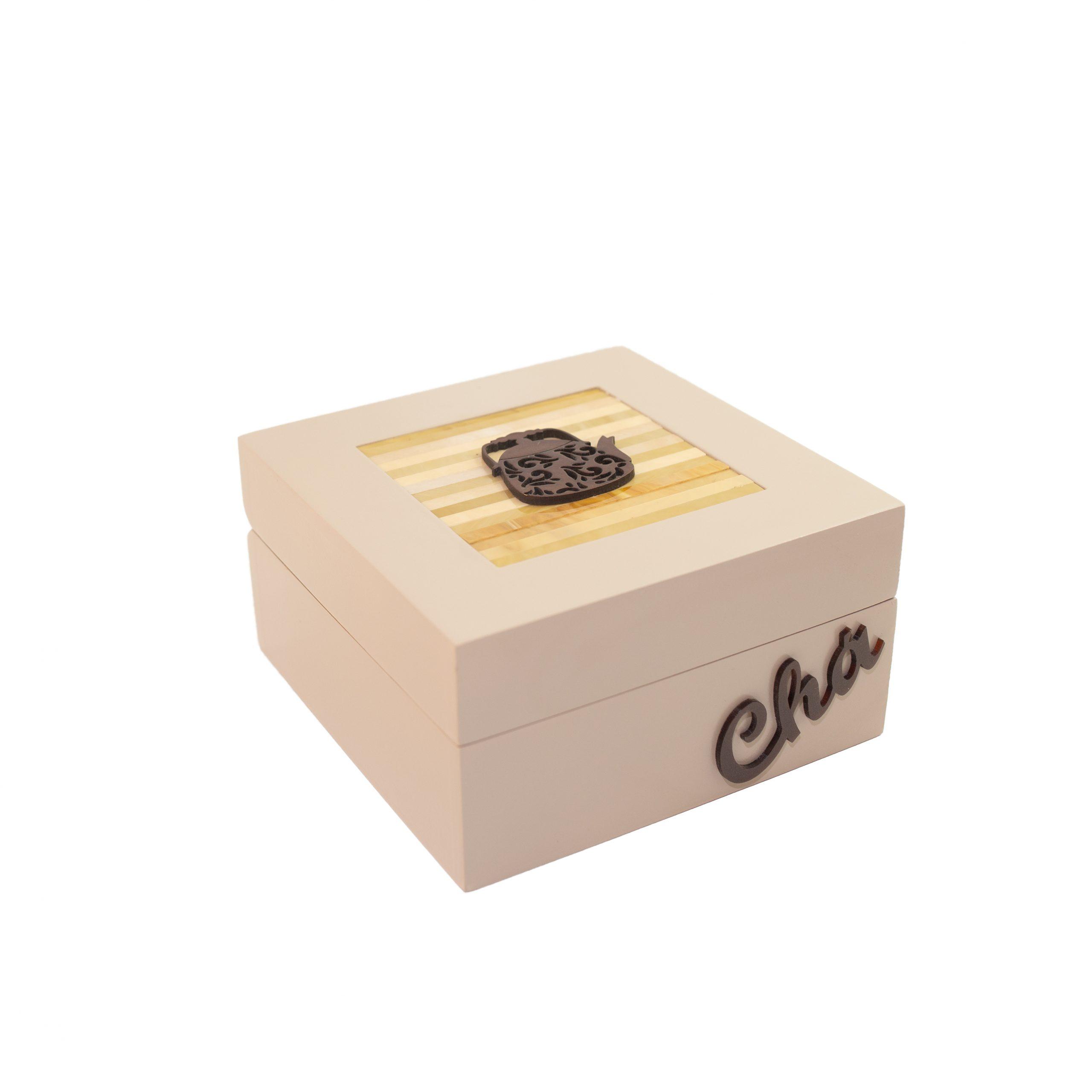 C48-CHA 4-(PORTA CHÁ 4 DIV) NUDE-16X16X8