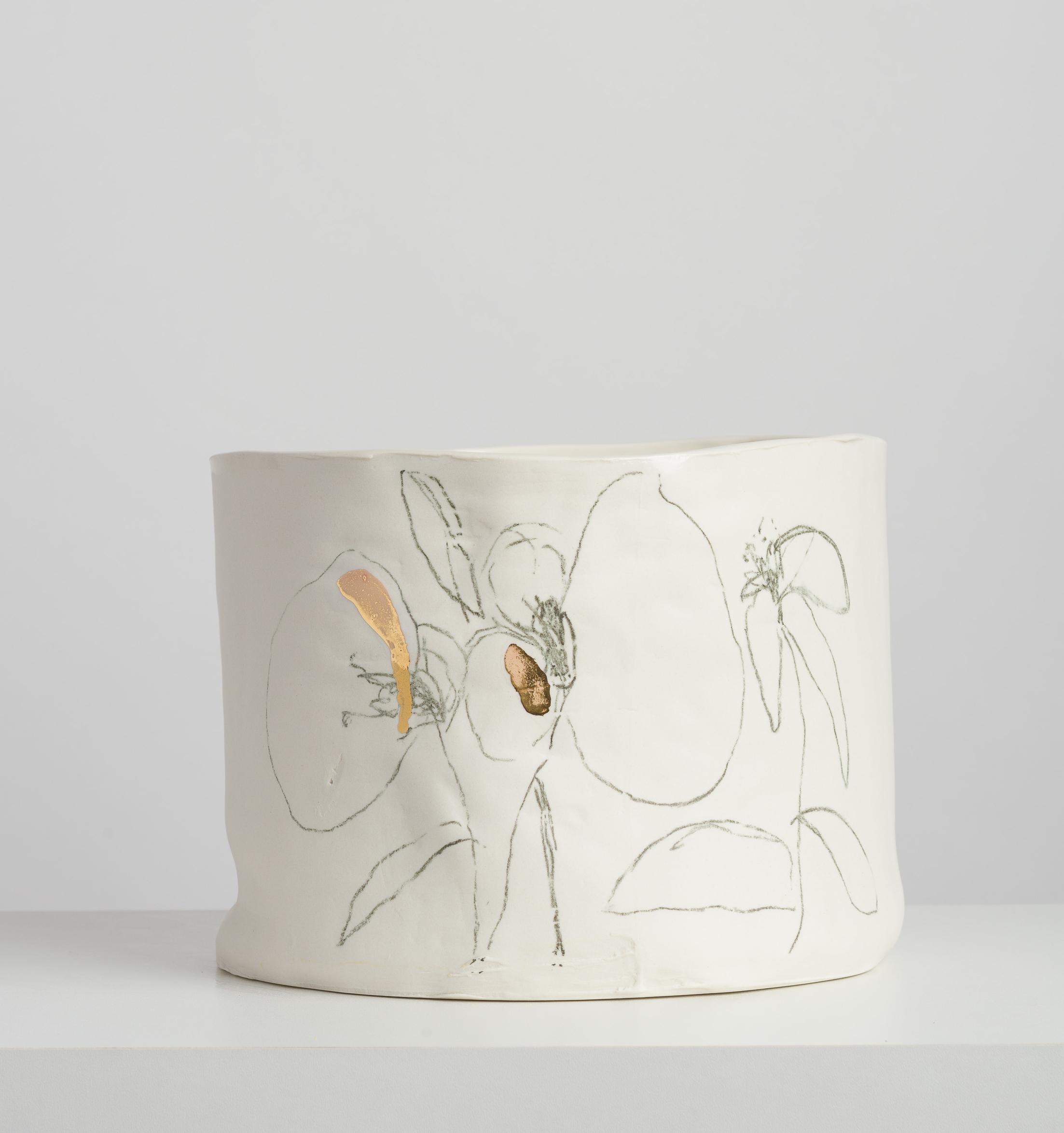 Série Botânica em Porcelana e Ouro G