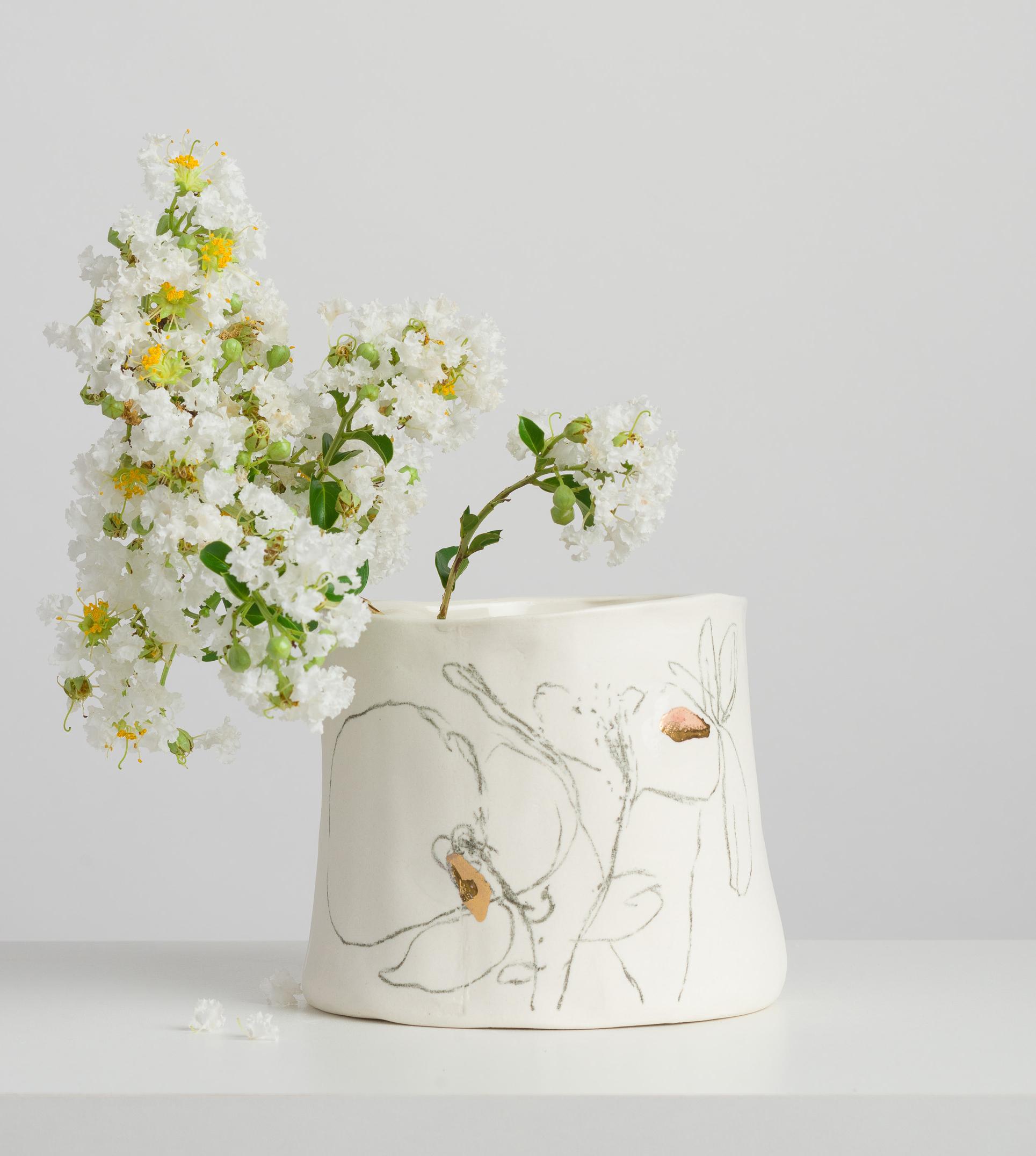 Série Botânica em Porcelana e Ouro M