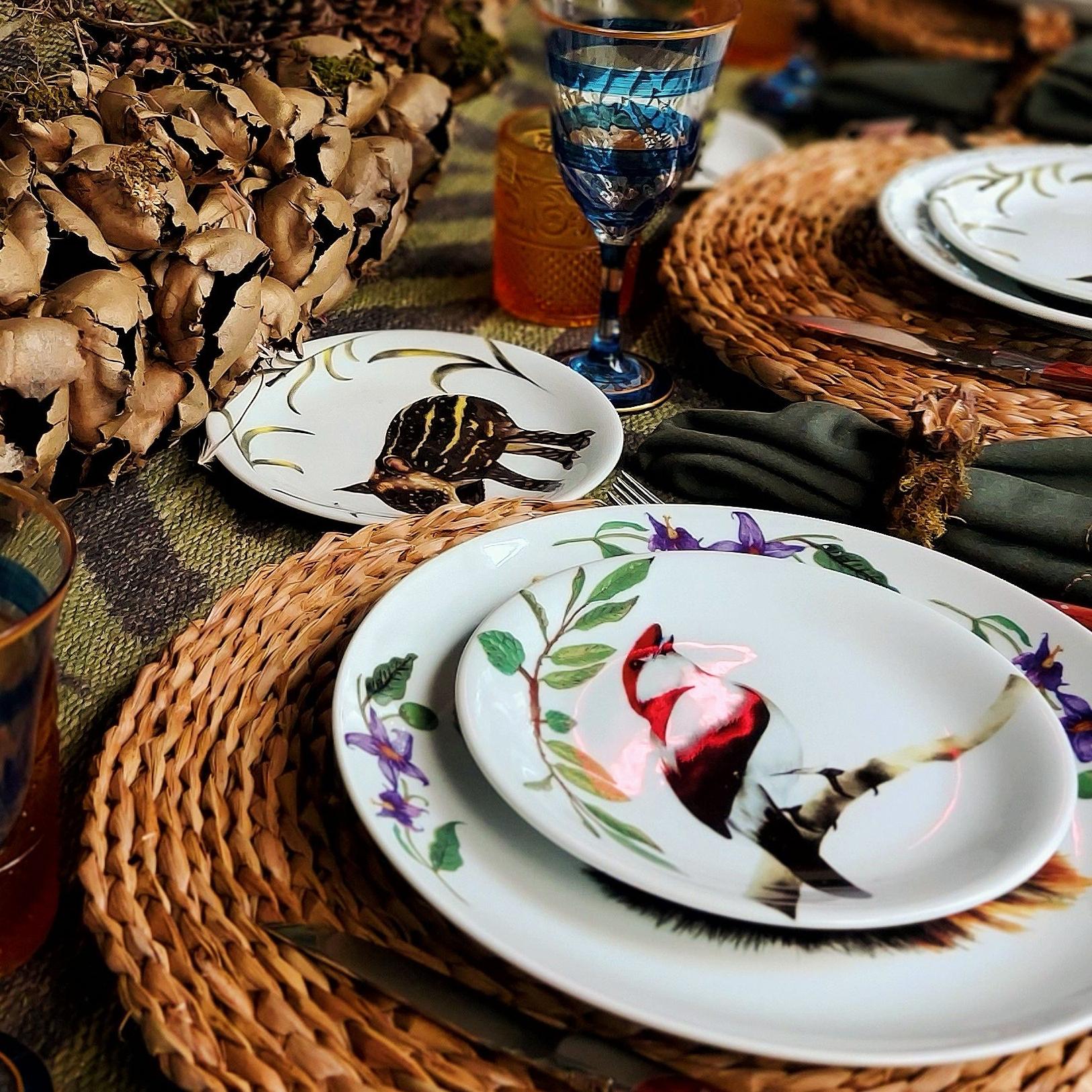 Pratos Decorados Da Coleção Animais Silvestres