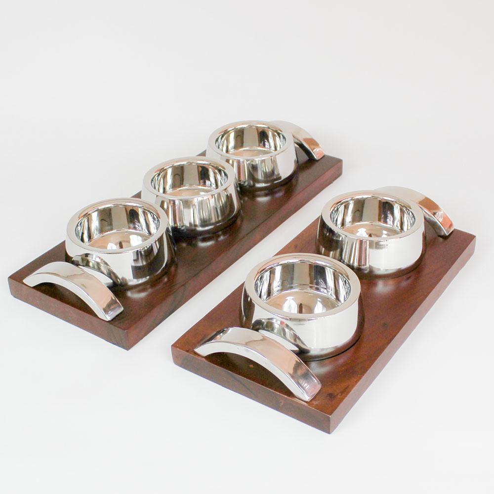 Petisqueira Ranchi com 3 bowls 3