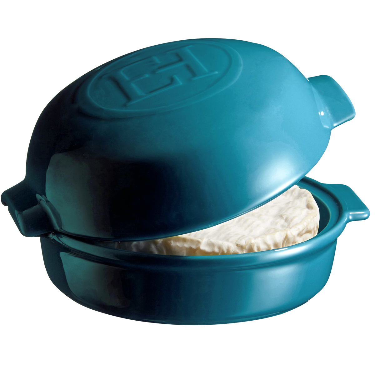 A prática tampa ajuda a manter o queijo úmido e infunde os sabores.