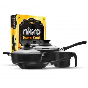 Nigro_20 Conjunto Home Cook 4 pecas Preto Antiaderente