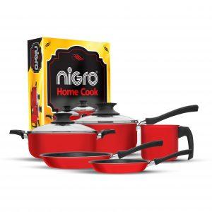 Nigro_21 Conjunto Home Cook 5 pecas Vermelho Antiaderente