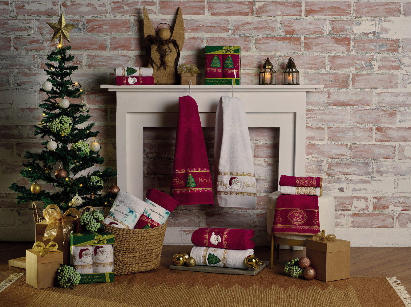 toalha natalina