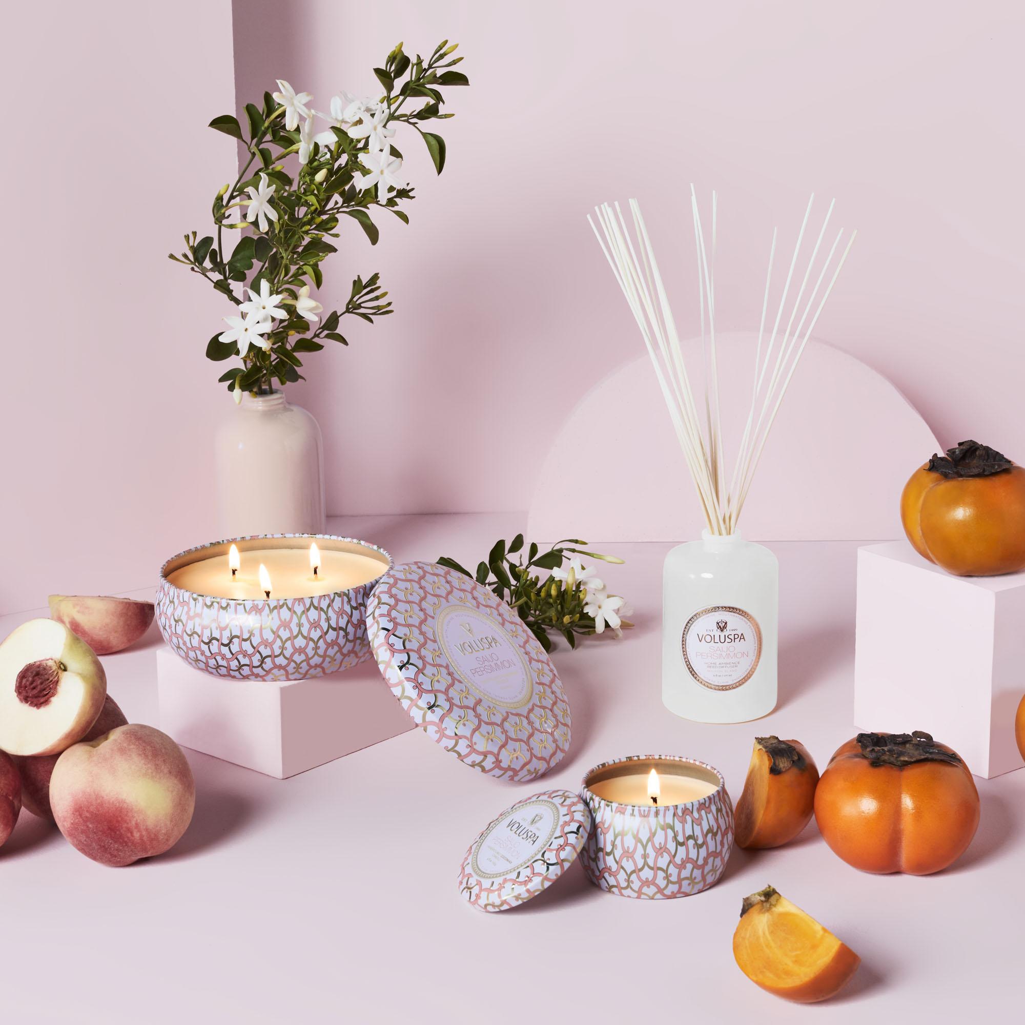 Saijo Persimmon - Coleção Maison Blanc da Voluspa